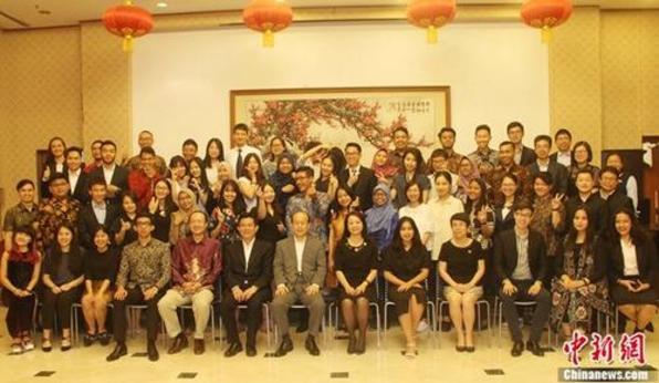 中印尼青年互访交流团走进中国大使馆